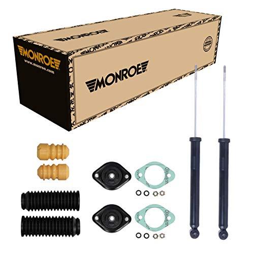 Monroe 2 Stoßdämpfer Hinten + Domlager und Staubschutz für BMW 3 Compact E46
