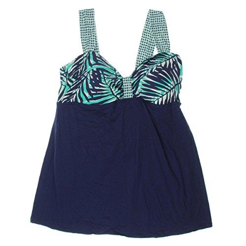 Anne Cole Women's Plus-Size Best Fronds Forever Swim Dress One-Piece Swimsuit, Multi, 20W