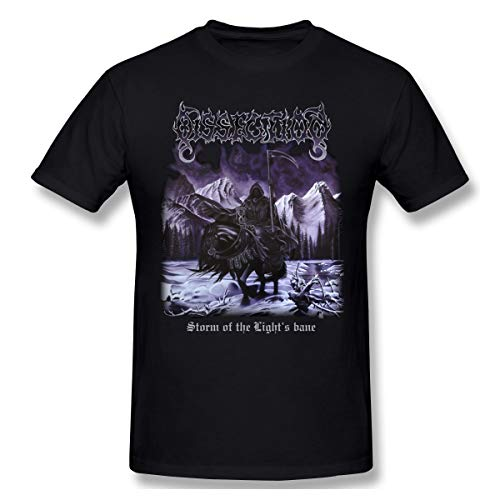 Fomente Dissection Storm of The Lights Bane Hombres Suave Camiseta Black