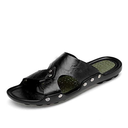 Sandalen heren pantoffels coole zomer mode zachte PU lichte strand slippers leder pantoffels grote maat nonchalante hiel schoenen sandalen