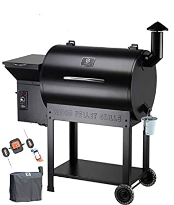 Z GRILLS ZPG-7002B Wood Pellet Grill Smoker for Outdoor Cooking with Cover, 2020 Upgrade, 8-in-1 (ZPG-7002BPro)