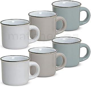 matches21 - Juego de tazas de café (6 unidades, aspecto