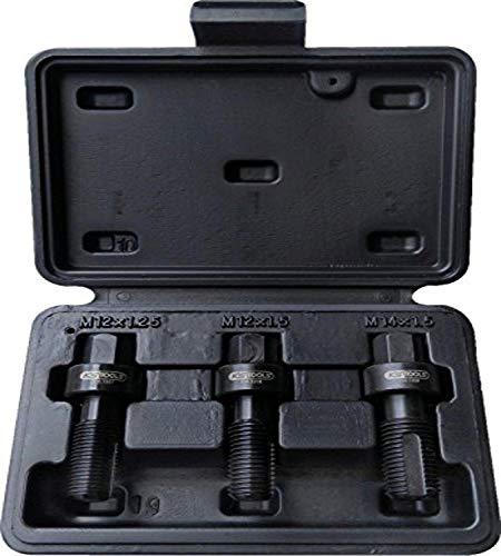 KS Tools 150.1355 Radmuttern-Gewindereparatur-Satz, 3-teilig