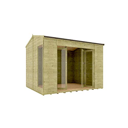 10 x 8 Pressure Treated Cannes Summerhouse Tongue & Groove...