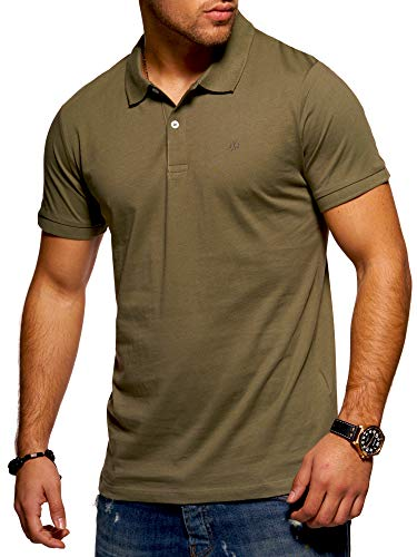 JACK & JONES Herren Poloshirt Polohemd Shirt Basic (XXX-Large, Dusty Olive)