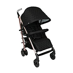My Babiie Faiers MB51 Rose Gold Black Quilted Stroller MB51QG   9