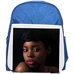 Makeup, Retouch, Glamour, Model, Fashion printed kid's blue backpack, Cute backpacks, cute small backpacks, cute black backpack, cool black backpack, fashion backpacks, large fashion backpacks, black:Amedama