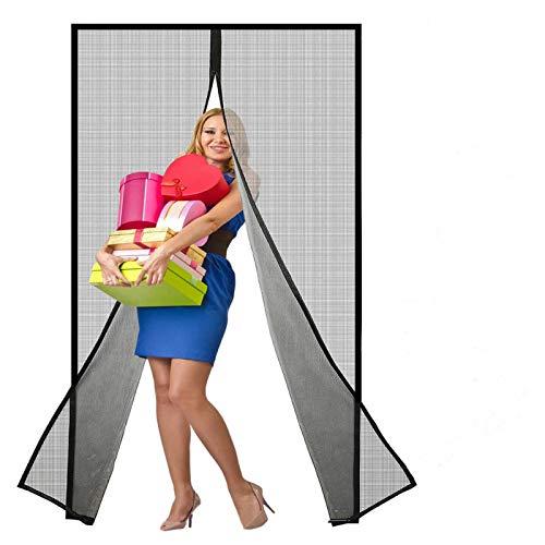 Magnetic Screen Door, Upgraded Reinforced Heavy Duty Fiberglass Mesh Curtain for 34 x 82 inch Doors