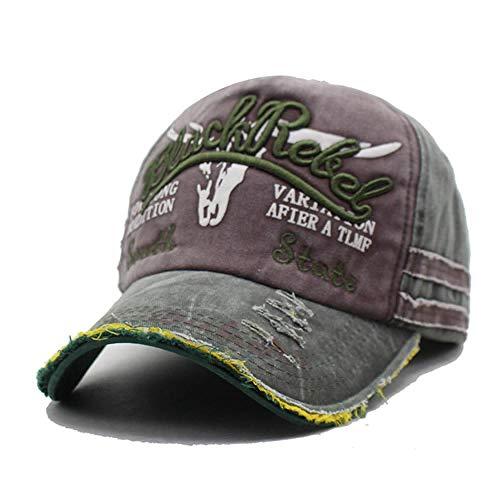 AdronQ Männer Baseball Caps Dad Cap Frauen Snapback Caps Knochen Hüte für Männer Mode Vintage Hut Caps Brief Cotton Cap Greencoffee