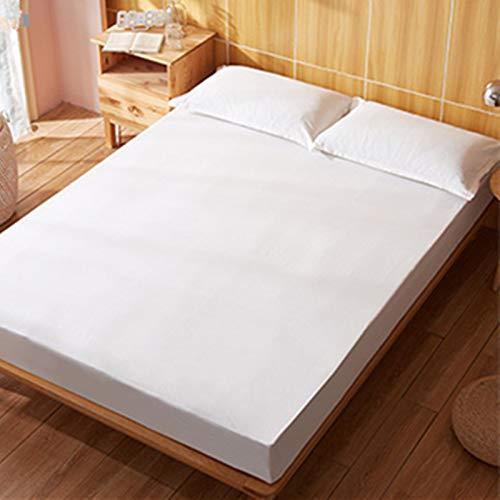 haiba Protector de colchón impermeable transpirable con correas de esquina, blanco, 140x200cm