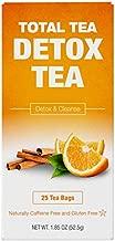 Total Tea Caffeine Free Detox Tea - All Natural - Slimming Herbal Tea for Gentle Cleansing - 25 Tea Bags