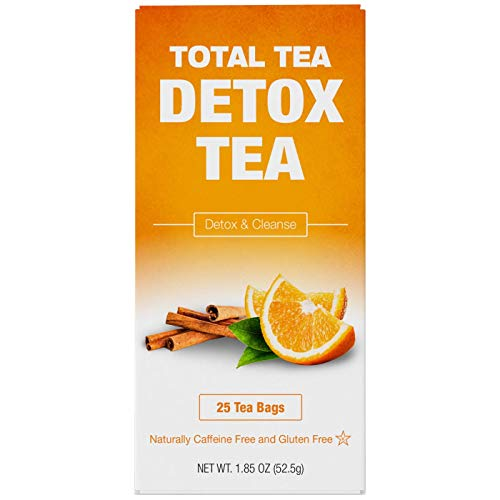 Total Tea Caffeine Free Detox Tea - Colon Cleanse - All Natural - Slimming Herbal Tea for Gentle Cleansing - 25 Teabags