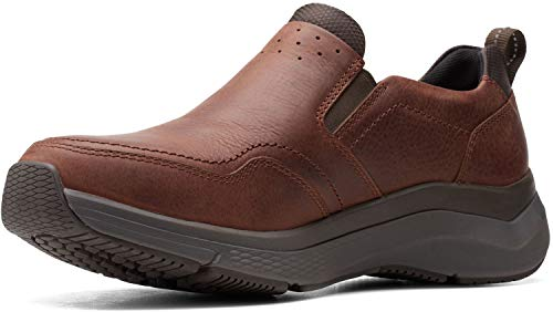 Clarks Wave 2.0 Edge Brown Oily Tumbled Leather 12 EE - Wide