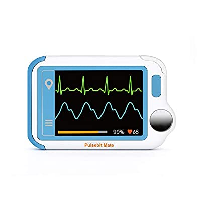 Blood Oxygen Monitor, Heart Monitor, Personal Heart Health Monitor with PC Software, Portable Handheld Blood Oxygen Saturation Monitoring Heart Monitoring Device for Fitness Home Use General Wellness