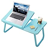 Lap Desk with Cup Holder,Laptop Desk Tray Table for Bed,Adjustable Computer Stands with Cup Slot for Writing,Portable Fits up to 17 inches Notebook for Eating Reading Watching Movie on Bed Couch Sofa