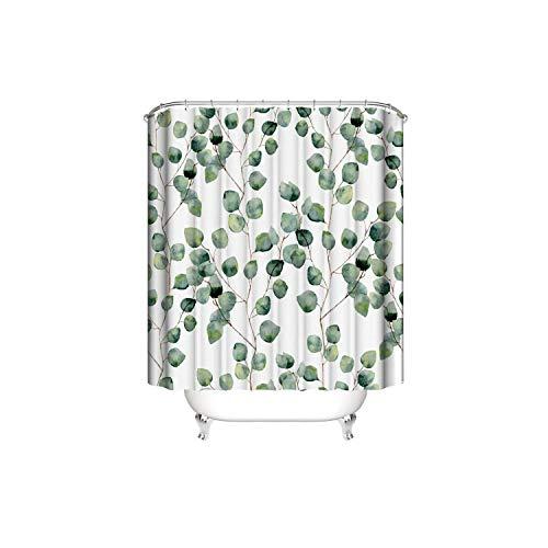 Big Incisor Bikini Stoff Duschvorhang | Digitaldruck Wasserdichter Duschvorhang Außenhandel Home Planting Flowers 3D Duschvorhang Stoff Polyester Duschvorhang-Landschaft Gemälde-150 * 180cm