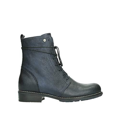 Wolky Comfort Boots Murray - 25800 blau metallic Leder - 36