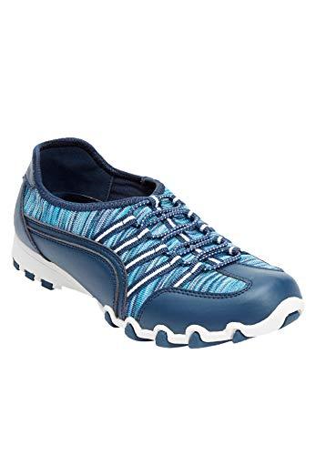 Comfortview Women's Wide Width The Tory Sneaker - 10 WW, Blue