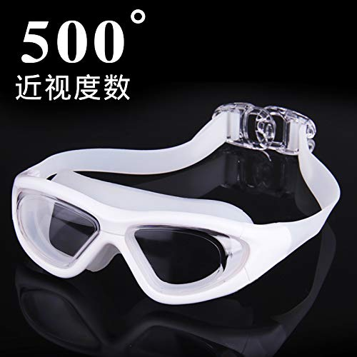jsauwi Zwembril Zwembril Volwassene Zwembril bijziendheid HD anti-mist waterdichte volwassen platte lichtdoos