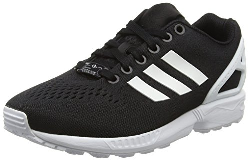 adidas Unisex-Erwachsene ZX Flux EM Low-Top, Schwarz (Core Black/FTWR White/Core Black), 42 2/3 EU