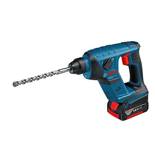 Bosch Professional GBH 18 V-LI Compact Bohrhammer, 1,0 J Schlagenergie, 4 - 12 mm Bohr-Ø, 2,1 kg Gewicht inkl. Akku, L-BOXX, Schnelllader, 2 x 1,5 Ah Li-Ion Akku