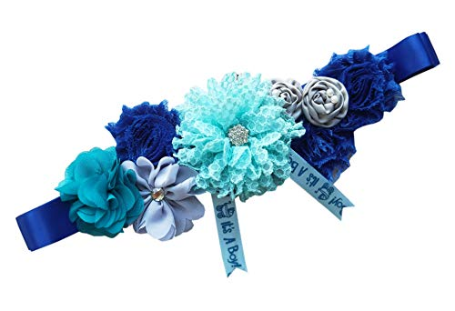 Maternity Wedding Sash Belt Baby Baptism Sash Belt Gift for Boy Y06 (Royal blue)
