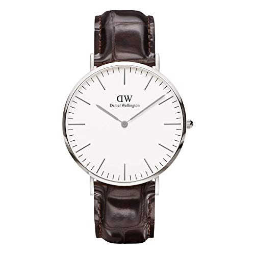 Daniel Wellington Herren Analog Quarz Smart Watch Armbanduhr mit Leder Armband DW00100025