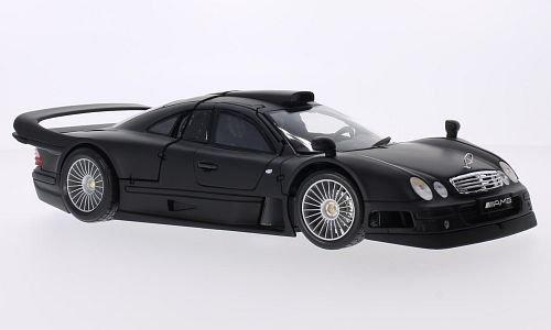 Mercedes CLK GTR, matt-schwarz, 0, Modellauto, Fertigmodell, Maisto 1:18