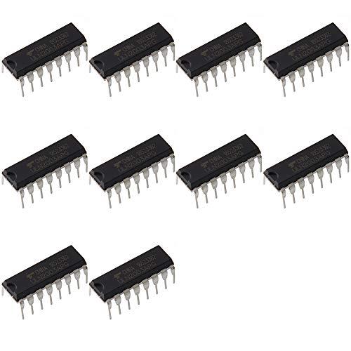 Bridgold 10pcs ULN2003APG ULN2003 2003 NPN Transistors Darlington 7-Circuit Sink Driver, 500 mA 50 V HFE:1000, 16-Pin