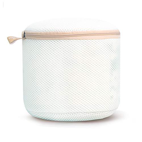 ラジャー洗濯ネット ブラ洗濯ネット 下着 ブラジャー専用 ブラジャーランドリーネット 洗濯ネット 洗濯袋 円筒型 2枚セット (白)
