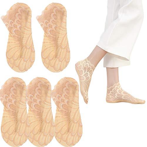 KFGJ Crystal Peacock Sock,Frauensocken,Sexy Ultradünne Socken,Spitzensocken Damen,Modische lässige und atmungsaktive Damensocken, Lässige Seidensocken Braun-2