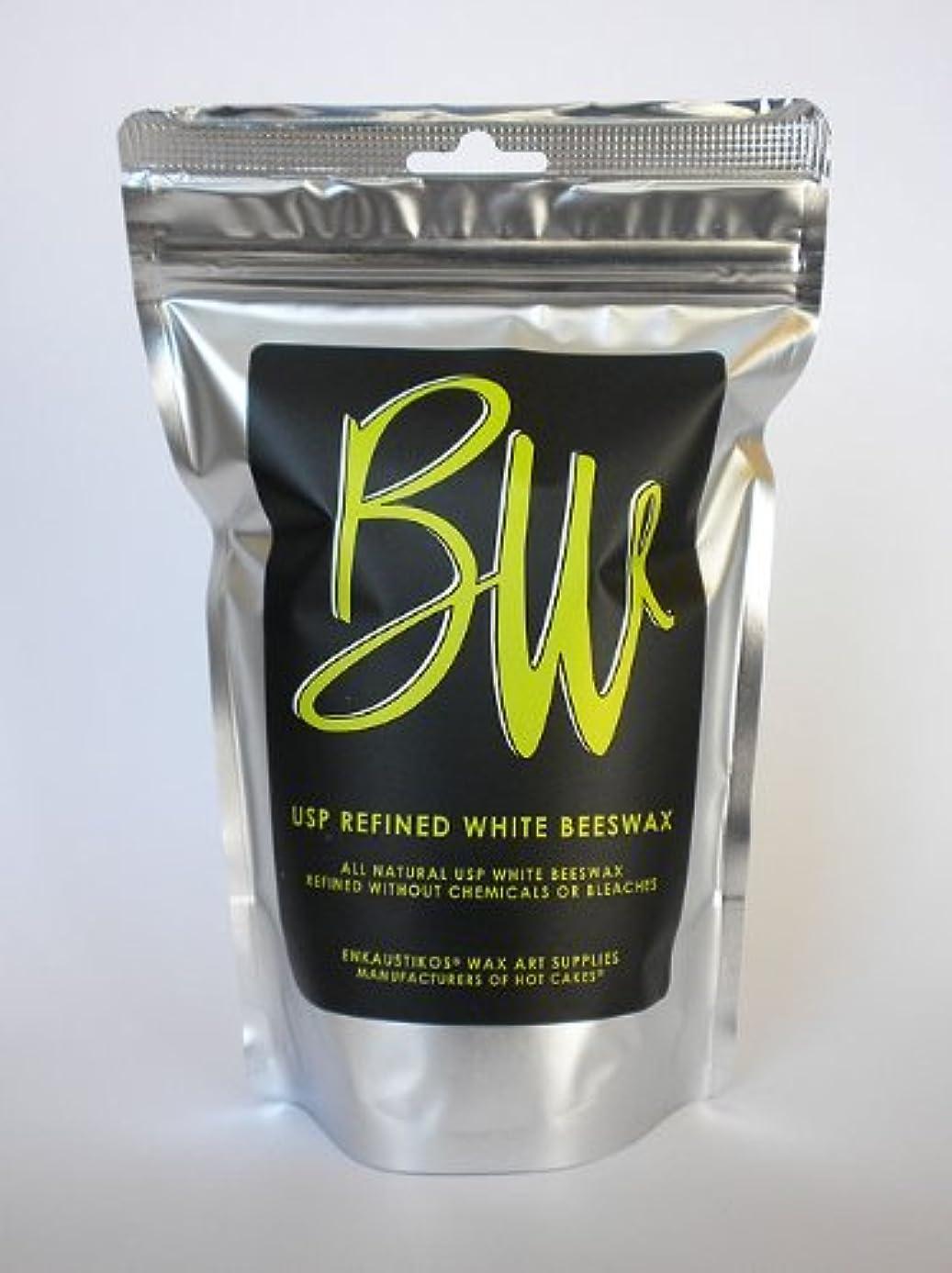 Beeswax US Pharmaceutical Grade White 16 oz Resealable Bag by Enkaustikos