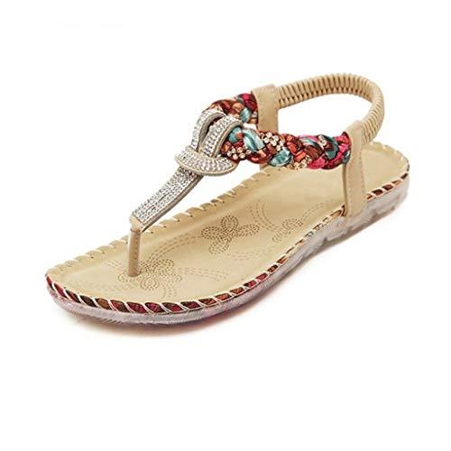 WZHZJ Women Sandals Women Casual Shoes Sexy Beach Summer Girls Flip Flops Fashion Cute Women Flats Sandals (Size : 8code)