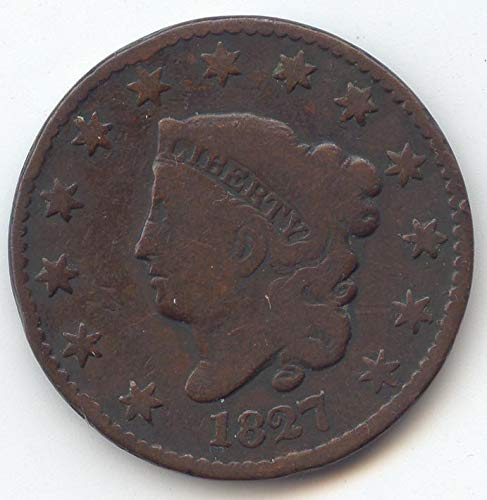 1827 Coronet Head Large Cent Very Good Details
