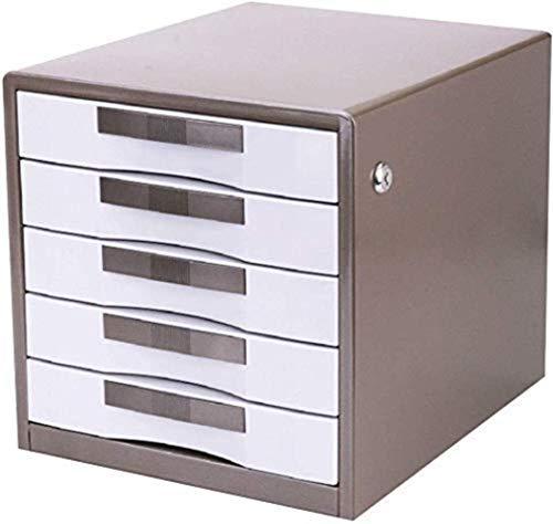 Ablageschränke Aktenschränke Vertikal 5 Drawer Metall Büro Lagerung Lagerschrank Grau -30 * 35 * 30.8cm Home Office Möbel Bürobedarf