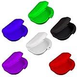 Skyllc® Retenedor ortodóntico dental de 2 piezas, estuche de almacenamiento para dentaduras postizas, caja de bandejas de protección bucal, envase protector de dientes falsos, color aleatorio