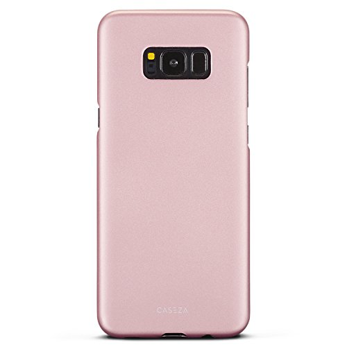 """Cover Galaxy S8 Plus Oro Rosa - CASEZA""""Rio"""" Custodia Posteriore Ultra Sottile con Finitura Gomma Opaca - Protettiva Gommata Rigida - Aspetto e Sensazione di Qualità per Samsung S8+ (6,2"""") Originale"""