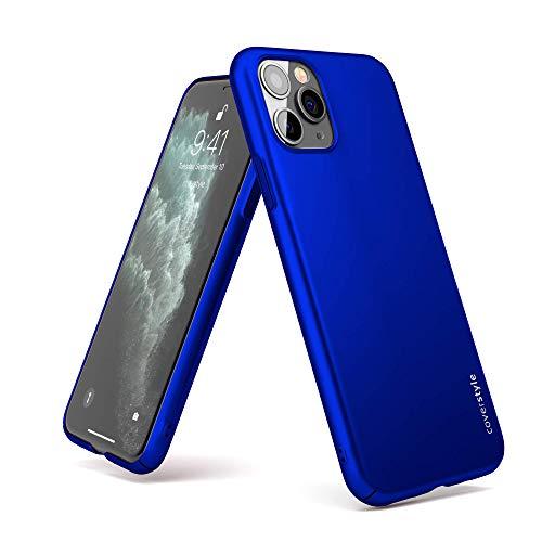 CoverStyle® – Ultrasoft® – para iPhone 11 Pro MAX – Carcasa rígida con Efecto Mate Soft-Touch – Azul eléctrico Mate