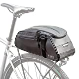 Bolsa portabicicletas, bolsa para maletero, impermeable, cuero de carbono, asiento trasero para bicicleta, maleta, maletero, almacenamiento, bolsa para ciclismo, para viajes diarios al aire libre