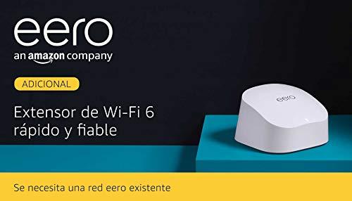 Te presentamos el extensor wifi 6 de malla de doble banda Amazon eero 6, que amplía la red eero existente