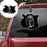 Haokanba Car Decals Creepy Ghost Skull 11' Black...