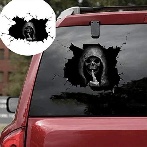Hunpta @ Halloween Deko Wandaufkleber Silent Skull Skelett 3D-Effekt DIY Selbstklebende Fenster Aufkleber Wandtattoos Wohnzimmer Schlafzimmer Wand Party Dekoration