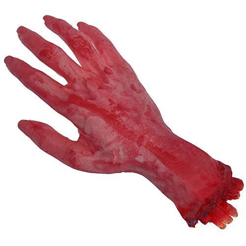 Bihood Abgetrennte Hand Hundespielzeug Abgetrennte Hand Prop Abgetrennte Gliedmaßen Prop Blutige Gliedmaßen Abgetrennte Arm Kinder Abgetrennter Arm Prop Bloody Arm Prop Abgetrennte Hand Prop