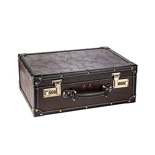 LIXHZJ Caja de peluquería Profesional Retro Estilista Scissors Scissors Bag Caja de Herramientas portátiles con la contraseña Bloquear Tijeras Maleta * No. de Producto :WW-72