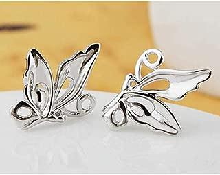 1 Pair Women Lovely Butterfly Earrings Silver Plated Jewelry Hot Sale