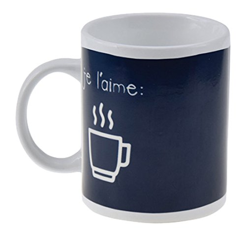 Incidence Paris 31296 Magic MUG - Je l'aime, Céramique, Changeant, 8 x 8 x 9,5 cm