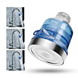 efluky Alcachofa de ducha de ahorro iónico, con filtro de cloro y para ducha universal, 3 modos y espray de ducha a alta presión
