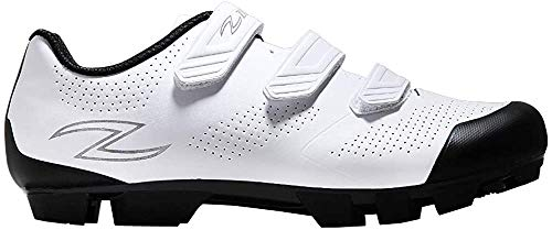 ZOL Raptor MTB - Zapatillas de ciclismo para interior, color Blanco, talla 39 2/3 EU