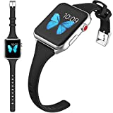 HAOZOUSA Compatible Watch Band 40mm 42mm Women Soft Slim Silicone Sport Watch Band iwatch Series 5 Series 4 Series 3 Series 2 Series 1