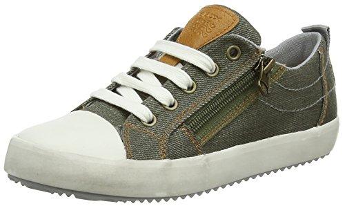 Geox Jungen J Alonisso D Low-top Sneaker, Grün (Military/Grey), 31 EU